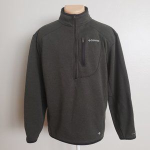 Columbia Dark Green Half Zip Pullover Sweater